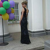 Одежда ручной работы. Ярмарка Мастеров - ручная работа Черное  вечернее платье с открытой спиной. Handmade.