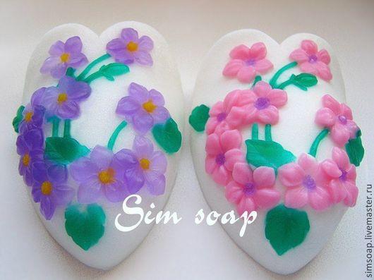 Мыло ручной работы. Ярмарка Мастеров - ручная работа. Купить Весеннее мыло. Handmade. Мыло ручной работы, цветы, фиолетовый