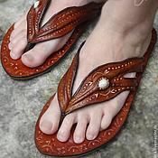 """Обувь ручной работы. Ярмарка Мастеров - ручная работа Кожаные сандалии """"Indian Summer"""". Handmade."""