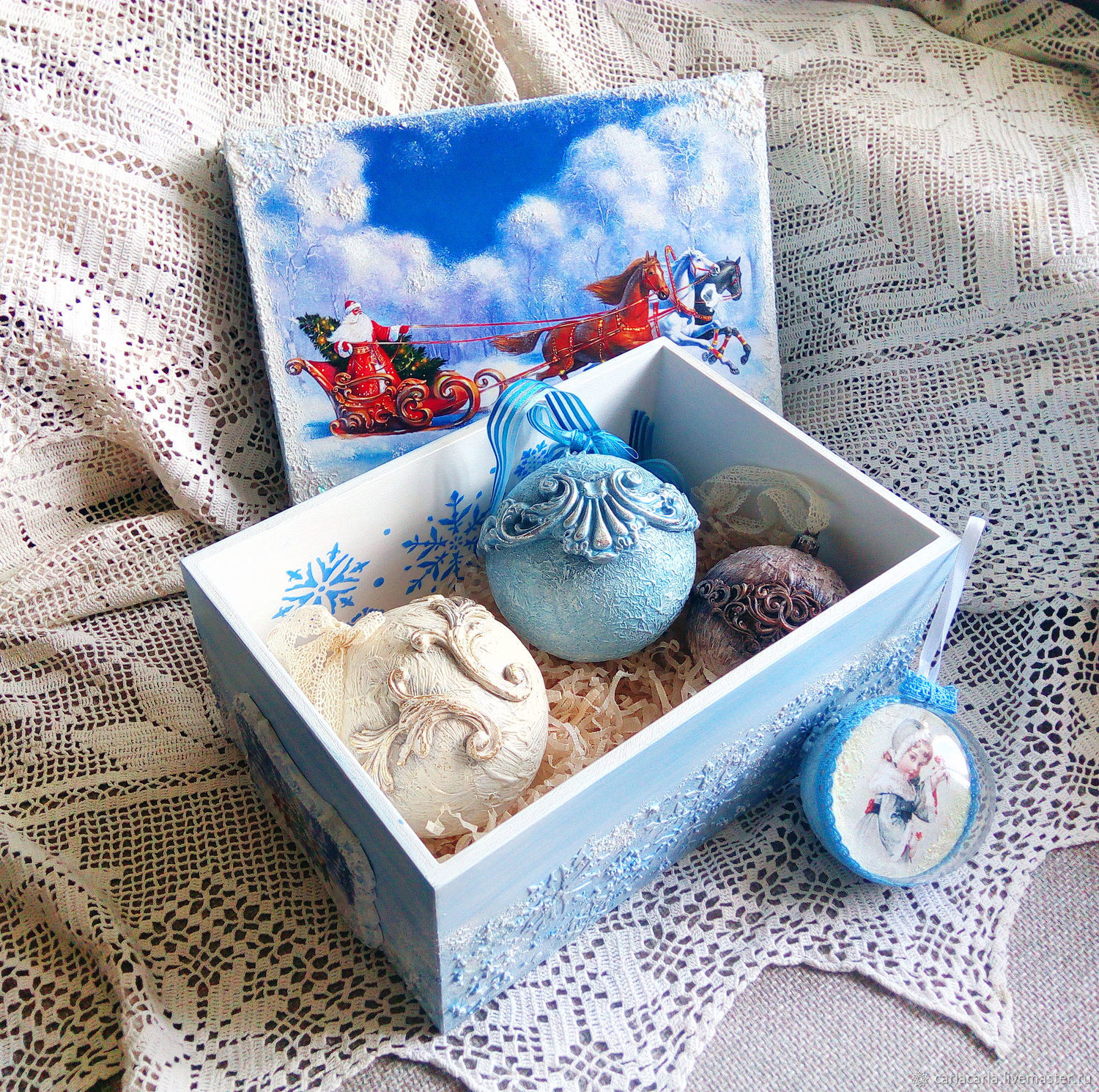 Box for christmas decorations Frosty pattern, Storage Box, St. Petersburg,  Фото №1