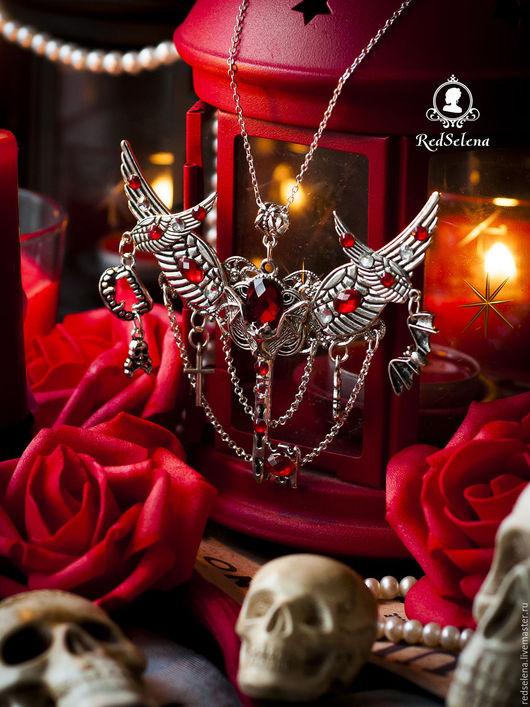 "Готика ручной работы. Ярмарка Мастеров - ручная работа. Купить Кулон-ключ ""Vampire's Kiss: Charm Version"". Handmade."