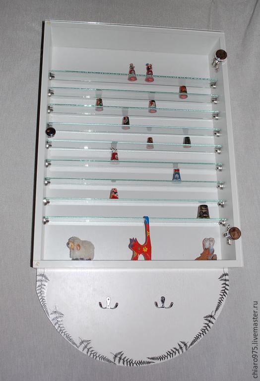 Мебель ручной работы. Ярмарка Мастеров - ручная работа. Купить Шкаф - витрина для хранения коллекций.. Handmade. Шкафчик, стеллаж, колокольчик