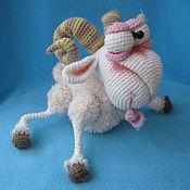 Материалы для творчества ручной работы. Ярмарка Мастеров - ручная работа Мастер-класс по вязанию игрушки Баран. Handmade.