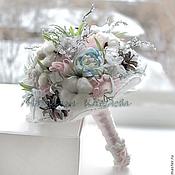 Свадебный салон ручной работы. Ярмарка Мастеров - ручная работа Букет зимний свадебный Зимняя сказка. Handmade.