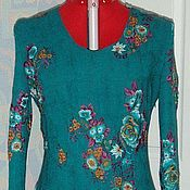 Одежда handmade. Livemaster - original item Wool dress malachite. Handmade.