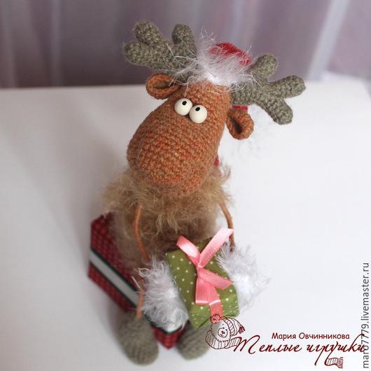 новогодний сувенир, подарки на новый год, символ нового года, интерьерная игрушка, новогодние игрушки, елочные украшения, елочные игрушки, лось, олень, новогодний подарок друзьям, веселый подарок