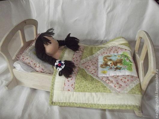 Развивающие игрушки ручной работы. Ярмарка Мастеров - ручная работа. Купить Кроватка для кукол большая. Handmade. Белый, кроватка-люлька