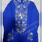 Мужская одежда handmade. Livemaster - original item Embroidered shirt. Handmade.