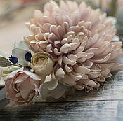 Свадебный салон ручной работы. Ярмарка Мастеров - ручная работа Пудрово-голубой свадебный венок. Handmade.