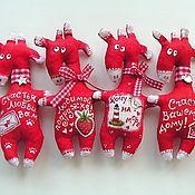 Куклы и игрушки ручной работы. Ярмарка Мастеров - ручная работа Ароматные Жирафики . Магнитики.. Handmade.