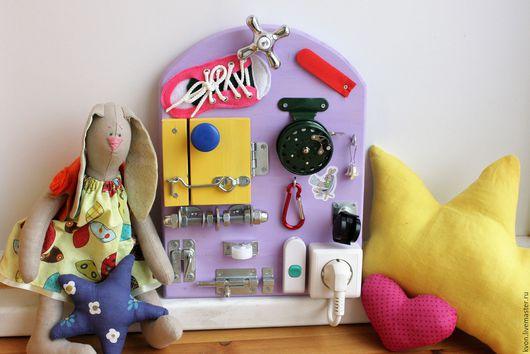 Развивающие игрушки ручной работы. Ярмарка Мастеров - ручная работа. Купить Мини Бизиборд №3 (с катушкой). Handmade. Комбинированный