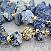 Украшения handmade. Livemaster - original item Chic, large lapis lazuli necklace