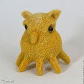Felted Toy handmade. Livemaster - original item Felt toy Octopussy. Handmade.
