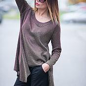 Одежда handmade. Livemaster - original item Womens asymmetric shirt Blouse cotton. Handmade.