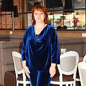 Одежда ручной работы. Ярмарка Мастеров - ручная работа Костюм брючный, костюм женский из бархата. Handmade.