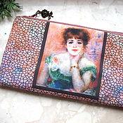 Сумки и аксессуары handmade. Livemaster - original item Cosmetic Bag, phone bag, bridesmaid clutch, Renoir bag. Handmade.
