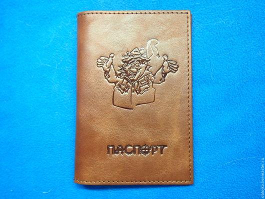Подарки для мужчин, ручной работы. Ярмарка Мастеров - ручная работа. Купить Обложка для паспорта. Handmade. Коричневый, обложка на документы