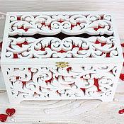 Свадебный салон handmade. Livemaster - original item Wedding treasury for envelopes (family bank). Handmade.