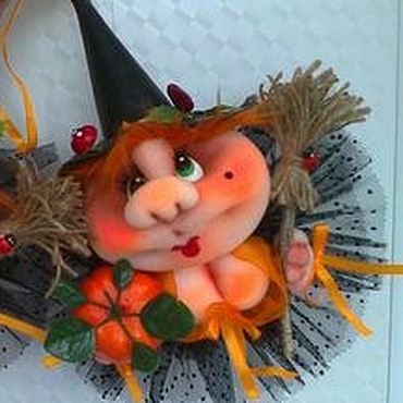 Сувениры и подарки ручной работы. Ярмарка Мастеров - ручная работа Ведьмочка Хэллоуин .. Handmade.