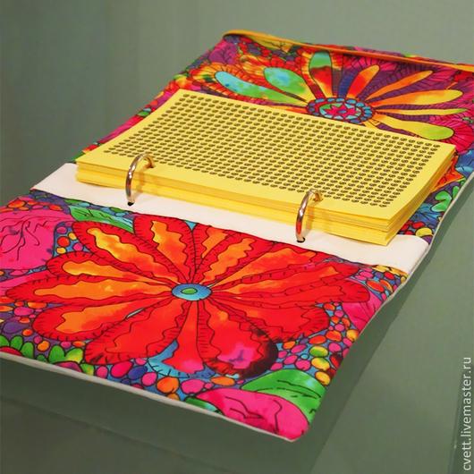 Авторский блокнот ручной работы на кольцах - SOULBOOK-MINI `RAINBOW DAY`. Формат А6.