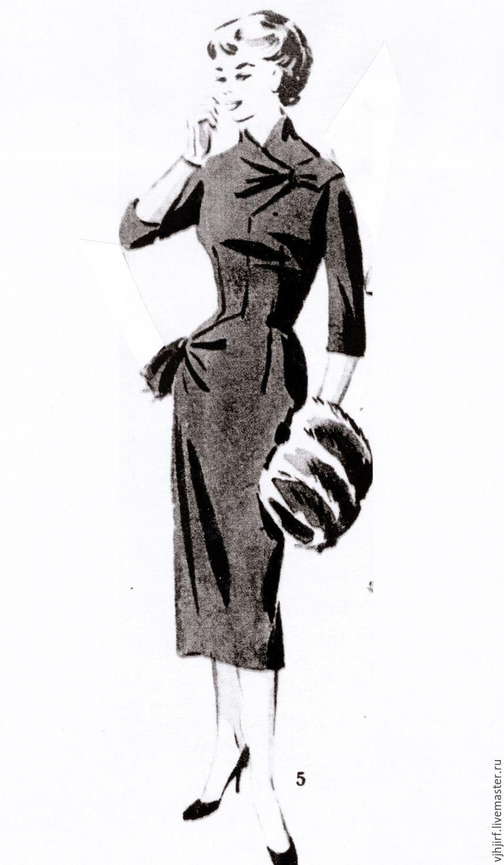 """Шитье ручной работы. Ярмарка Мастеров - ручная работа. Купить Выкройки из журнала """"Модели сезона"""" 1957-58 годы. Handmade."""