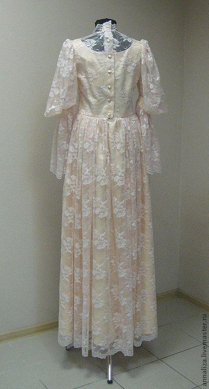 Платье принцесса 19 века персик