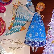 """Подарки к праздникам ручной работы. Ярмарка Мастеров - ручная работа Подвеска-сувенир """"Ангелочек"""". Handmade."""