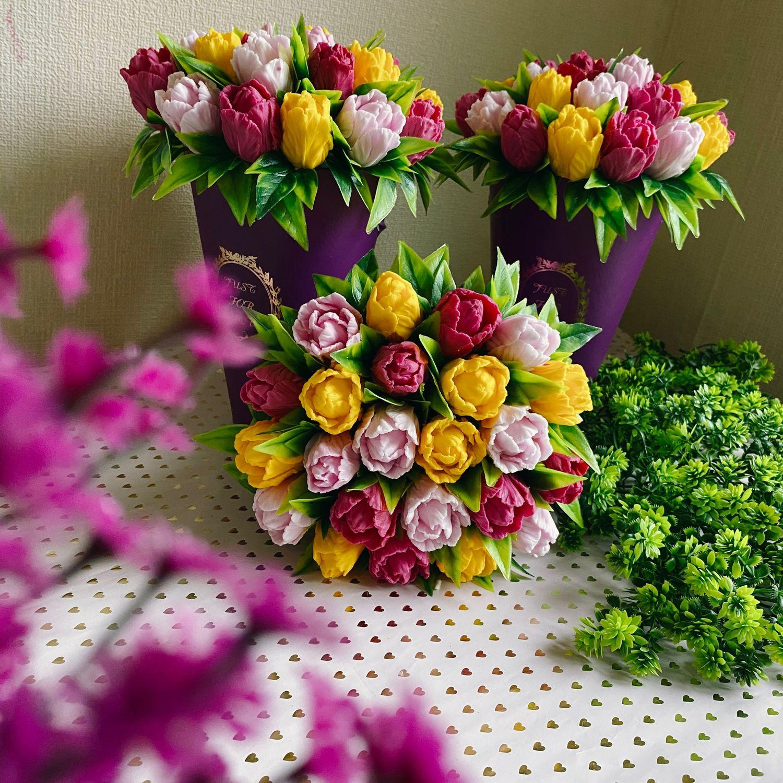 Букет из мыла. Тюльпаны из мыла, Цветы, Новосибирск,  Фото №1