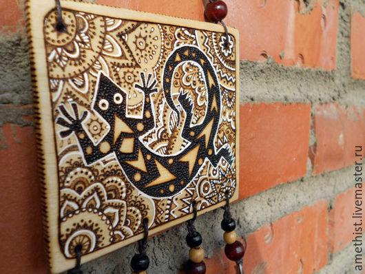 """Животные ручной работы. Ярмарка Мастеров - ручная работа. Купить Картина """" Ящерица"""". Handmade. Чёрно-белый, подарок"""