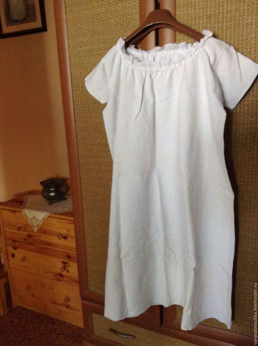 Одежда. Ярмарка Мастеров - ручная работа. Купить Старинное льняное платье.. Handmade. Белый, старинное платье, старинный лен