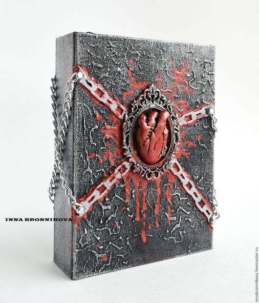 """Блокноты ручной работы. Ярмарка Мастеров - ручная работа. Купить блокнот """"Закованное сердце"""". Handmade. Комбинированный, блокнот с нуля, картон"""