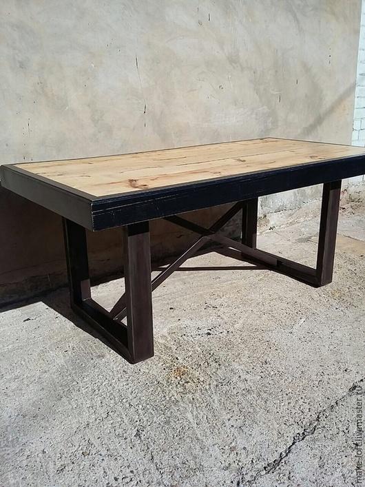 Мебель ручной работы. Ярмарка Мастеров - ручная работа. Купить Стол обеденный в стиле Лофт. Handmade. Коричневый, дерево, лофт