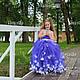 Одежда для девочек, ручной работы. Ярмарка Мастеров - ручная работа. Купить Пышное платье для девочки Фиалка. Handmade. Платье вечернее