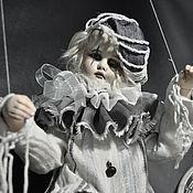Куклы и игрушки ручной работы. Ярмарка Мастеров - ручная работа Продан!Старый театр. Грустный Пьеро.. Handmade.