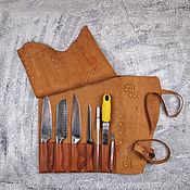 Чехол ручной работы. Ярмарка Мастеров - ручная работа Поварская скрутка для 5 ножей. Handmade.
