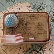 """Косметика ручной работы. Ярмарка Мастеров - ручная работа Мыло """"Урок географии"""". Handmade."""