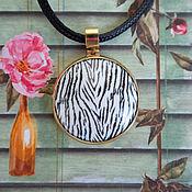 handmade. Livemaster - original item Pendant: Tiger, hot enamel, brass.. Handmade.