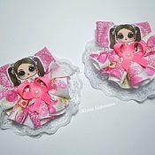 Резинка для волос ручной работы. Ярмарка Мастеров - ручная работа Резиночки для волос, резиночки для девочек, куколка в платье, Лол. Handmade.