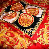"""Аксессуары ручной работы. Ярмарка Мастеров - ручная работа Большой платок """"Роскошные узоры"""" батик. Handmade."""