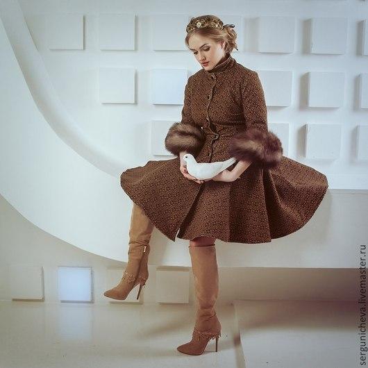 """Верхняя одежда ручной работы. Ярмарка Мастеров - ручная работа. Купить Пальто""""Мiss""""в стиле DG. Handmade. Орнамент, теплое пальто"""
