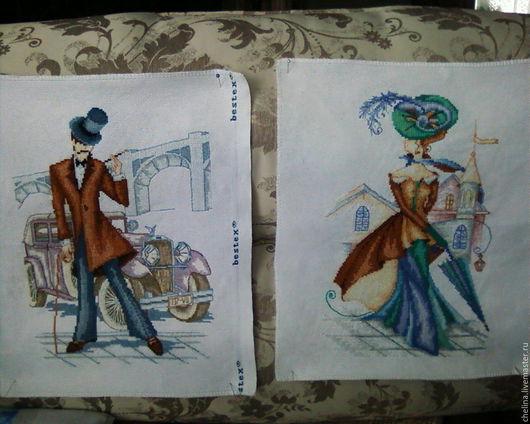 """Люди, ручной работы. Ярмарка Мастеров - ручная работа. Купить две картины на тему """"городской сюжет"""". Handmade. Комбинированный, джентльмен"""
