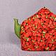 Кухня ручной работы. Ярмарка Мастеров - ручная работа. Купить Грелка для чайника КЛУБНИЧКА. Handmade. Грелка на чайник, кухонный интерьер