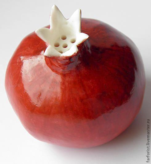 Кухня ручной работы. Ярмарка Мастеров - ручная работа. Купить Гранат красный сахарница. Handmade. Фарфор, бордовый
