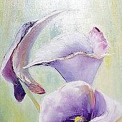 """Картины и панно ручной работы. Ярмарка Мастеров - ручная работа Картина маслом  """" Изящная калла"""" 40х60 ,(цветы). Handmade."""