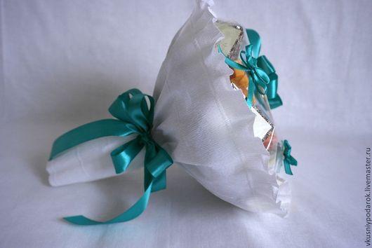"""Подарки для влюбленных ручной работы. Ярмарка Мастеров - ручная работа. Купить Чайный Букет """"Бирюза"""". Handmade. Тёмно-бирюзовый, в гости"""