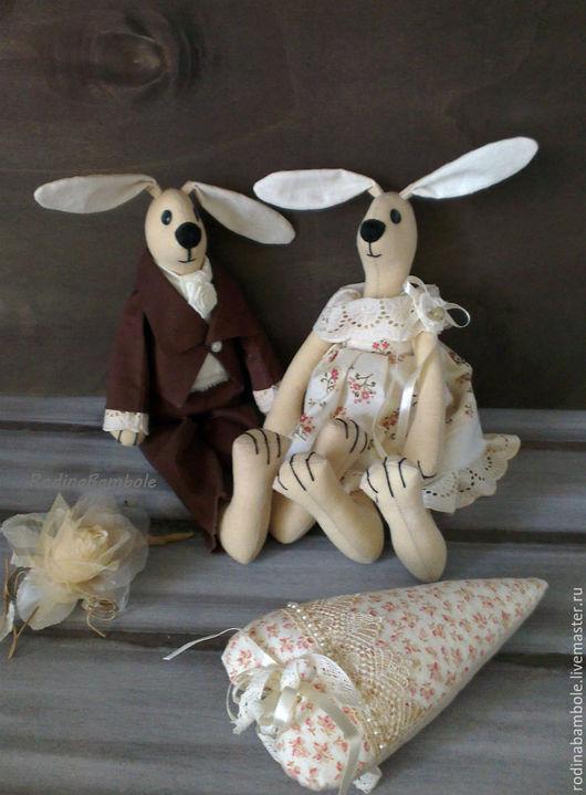 Игрушки животные, ручной работы. Ярмарка Мастеров - ручная работа. Купить Свадебные зайцы Неразлучники. Handmade. Свадебные зайцы