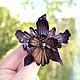 Заколки ручной работы. Ярмарка Мастеров - ручная работа. Купить орхидея кожаная брошь и заколка. Handmade. Подарок девушке