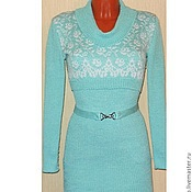 Вязаное платье-лапша+ болеро Весенне настроение