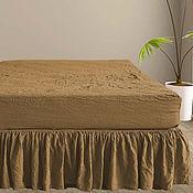Для дома и интерьера handmade. Livemaster - original item Fitted sheets made from organic flax. Linen. Handmade.