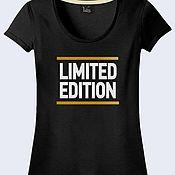 """Одежда ручной работы. Ярмарка Мастеров - ручная работа Женская футболка """"Limited Edition"""". Handmade."""